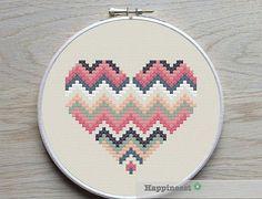 3 geometric modern cross stitch heart patterns, hearts, set of PDF pattern… Cross Stitching, Cross Stitch Embroidery, Embroidery Patterns, Hand Embroidery, Modern Cross Stitch Patterns, Cross Stitch Designs, Modern Patterns, Motifs Perler, Geometric Heart