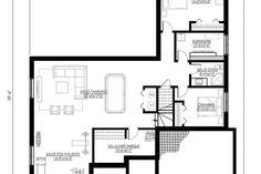 Plan de Maison Moderne Ë_137 | Leguë Architecture Bungalow, Architect Design, Architecture, Home Remodeling, House Plans, Floor Plans, House Design, How To Plan, Mj