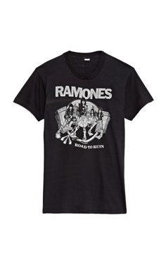 Black The Ramones Tee by MO Vintage Now Available on Moda Operandi