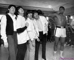 The Beatles és Mohamed Ali, történelmi képek, iliveinstyle.com magazin