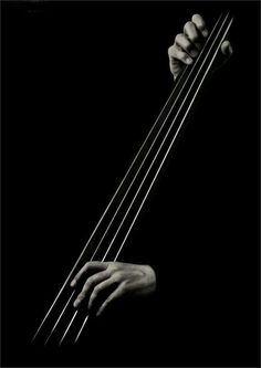 Black and White Photography/Art I love the Bass Guitar or Cello! This is a very simplified photo but says a great deal of what it's about!