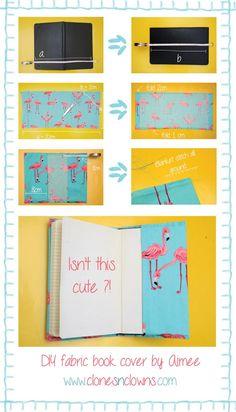 DIY Tutorial: DIY Stationery / DIY fabric notebook cover - Bead&Cord