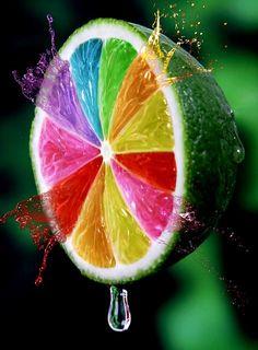 Limón de colores.