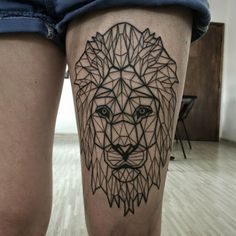 The geometric breakdown of a Lion evidently looks great on a woman's thigh.