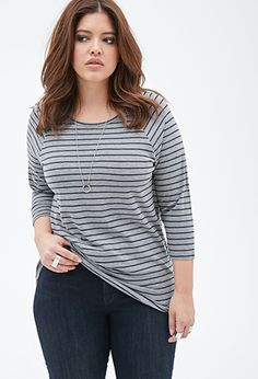 Striped Raglan Top | FOREVER21 PLUS - 2000134744 (bought)