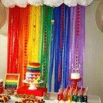 Decoração da festa do arco-íris