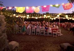 Wedding Ideas: Decorations : Like the  hanging lantern lights mixed with the colorful paper