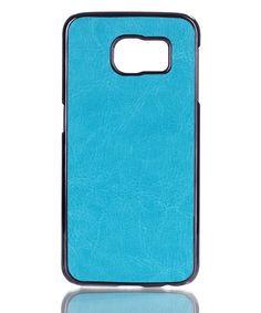 Samsung Galaxy S6 Leather Coated Hard Case Blauw