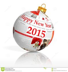 Buy Newspaper happy new year 2014 ball on white background by viperagp on PhotoDune. Newspaper happy new year 2014 ball on white background Happy 2015, Happy New Year 2014, Happy New Year Images, Costa Rica, Merry Christmas, Christmas Bulbs, Happy Wedding Anniversary Cards, Pig In Mud, Happy New Year Wallpaper
