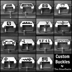 Custom buckles now available in screw-in. Update your strap today with a fresh buckle!