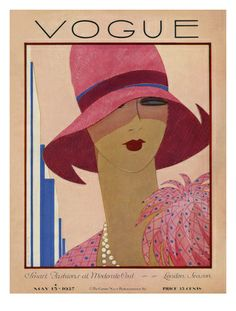 Portada Revista Vogue. GEORGE LEPAPE. PARIS (1887-1971). 1927. Colección privada.