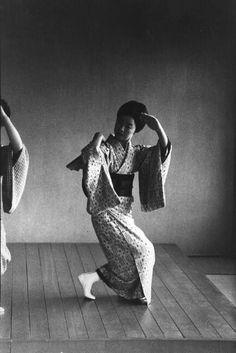 Geisha school, Kyoto, Japan. 1961.