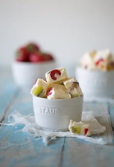Frozen Fruit Salad Gefrorener Obstsalat