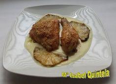 Muslos de pollo al horno y salsa de piña