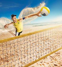 Cliente:Banco do Brasil  Agência:Lew'Lara/TBWA  Criação:Caio Figueiredo  Composição, CGI e Fotografia(cenário e bola):Seagulls Fly Fotografia(atletas):Thomas Susemihl