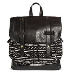 Women's Global Print Backpack Handbag Black - Mossimo Supply Co.