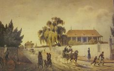 New Orleans in Street scene, Faubourg Marigny by Felix Achille Beaupoil de Saint Aulaire. The Historic New Orleans Collection, acc. New Orleans Homes, New Orleans Louisiana, Scandal, New Orleans History, Louisiana Purchase, Antebellum Homes, Character And Setting, New South, Napoleon