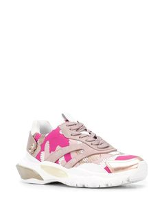 Valentino Valentino garavani bounce camouflage sneakers in Pink Sneakers For Sale, High Top Sneakers, Valentino Sneakers, Valentino Garavani, Camouflage, Things That Bounce, Lace Up, Heels, Pink