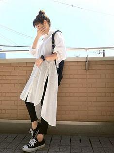 Korean Girl Fashion, Japanese Fashion, Fashion Fashion, Runway Fashion, Fashion Trends, Cute Casual Outfits, Chic Outfits, Simple Outfits, Skirt Fashion