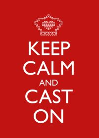 Keep Calm and Cast On - Red #keep_calm #knitting