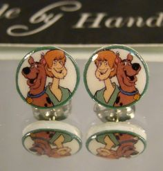 Scooby Doo Cartoon Nostaligia Stud Earrings