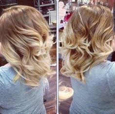 Fashionable Blonde Ombre Hairstyle
