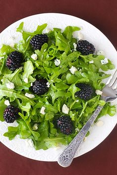 gimme some oven » Blog Archive blackberry arugula salad with citrus vinaigrette » gimme some oven