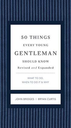 With sales of more than 750,000 copies, the books in the GentleManners series have become the most popular gift etiquette books on the market today. This latest book in the series was written especially for boys ages 8-14, to teach them the basic skills every young man should have and every young man's mother and grandmother want him to have. Among the topics covered in this book are how to shake hands, how to make an introduction, what to do when you sneeze or cough, and how to use a napkin. It is written in a style that will appeal to young men of that age.