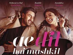 The new still of 'Ae Dil Hai Mushkil' featuring Ranbir Kapoor and Anushka Sharma…