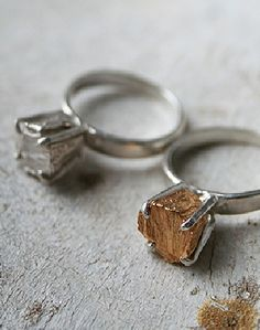"Metal ""Diamond"" Ring"