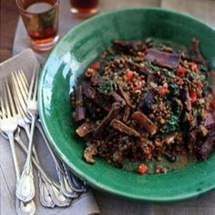 Lentils with Swiss Chard and Khlea Recipe | SAVEUR