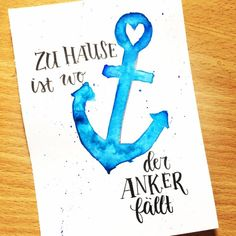 schokolade as guest in the lettering interview - Letter Lovers – anna.schokolade – hand lettering at home is where the anchor falls - As Built Drawings, Art Drawings, Karten Diy, Disney Home Decor, Happy Paintings, Bathroom Kids, Family Bathroom, Brush Lettering, Brush Pen