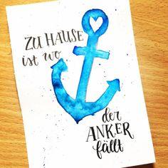Letter Lovers - anna.schokolade - Handlettering zu Hause ist wo der Anker fällt