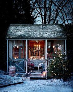 Susie Watson Designs: A Fairytale Christmas Indoor Outdoor, Outdoor Gazebos, Outdoor Living, Outdoor Decor, Backyard Gazebo, Winter Christmas, Christmas Home, Winter Snow, Susie Watson