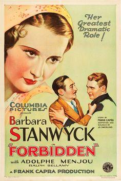 Forbidden (Frank Capra, 1932) starring Barbara Stanwyck