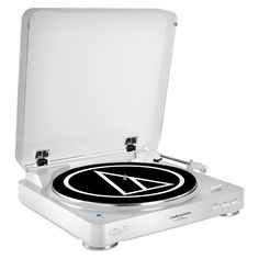 Audio Technica AT LP60BK BT Bluetooth Wireless Stereo Turntable   White