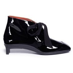 3.1 Phillip Lim 'Blade Desert' geometric heel calfskin leather booties (3.025 RON) ❤ liked on Polyvore featuring shoes, boots, ankle booties, stiletto booties, stiletto heel boots, stiletto boots, 3.1 phillip lim booties and stiletto high heel boots