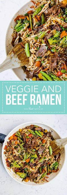EASY beef ramen with
