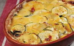 Potato and Zucchini Gratin with Époisses Zucchini Gratin, Summer Squash, Salted Butter, Casserole Dishes, Cooking Time, Potatoes, Stuffed Peppers, Vegetables