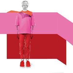 #christopherkane #christopher #kane #menswear #pink #red #geometry #mystupidsketchbook #fashionillustration #illustration