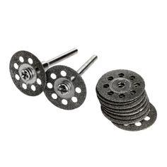10Pcs Dremel Accessories 20mm Diamond Dremel Cutting Disc for Metal Grinding Wheel Disc Mini Circular Saw for Drill Rotary Tool