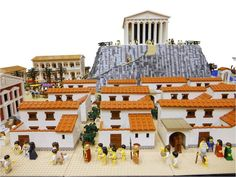 Ancient Greek town made by Lego