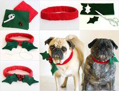 Creative Ideas - DIY Christmas Dog Collar | iCreativeIdeas.com Follow Us on Facebook --> https://www.facebook.com/iCreativeIdeas
