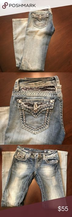 Miss Me Light Wash Boot Cut Jeans Size 26. Light wash distressed Miss Me jeans. Great condition. Miss Me Jeans Boot Cut