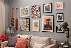 6 formas de criar composições de quadros na parede
