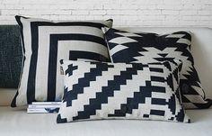 Set of 3 Nordic Ikat Pillow Covers Scandanavian Throw Pillows Cushion Covers Linen Cotton Covers Beach House Decor Aztec Tribal Navajo