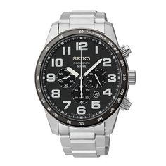 Seiko® Core Solar Stainless Steel Men's Watch, available at #HelzbergDiamonds