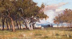 Frederick McCubbin was an Australian artist and prominent member of the Heidelberg School art movement, also known as Australian Impressionism. Frederick McCubbin was a son of Melbourne. Australian Painting, Australian Artists, Paintings I Love, Beautiful Paintings, Horse Paintings, Painting Gallery, Art Gallery, Impressionist Artists, Art Reproductions