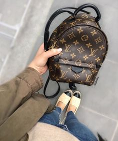 Louis Vuitton Mini Palm Springs backpack and Chanel espadrilles