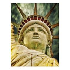 Statue of Liberty Postcard - independence day 4th of july holiday usa patriot fourth of july